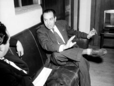 Juán Gutiérrez Lascurain, licenciado y presidente del PAN, durante una entrevista con periodistas