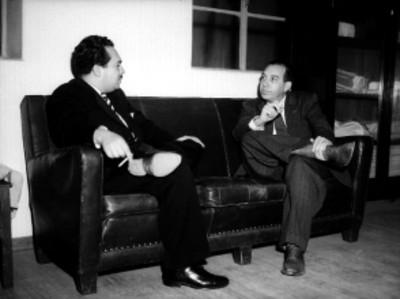Juán Gutiérrez Lascurain, presidente del PAN, probablemente durante una entrevista
