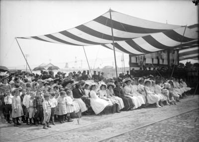 Ceremonia de la Escuela Nacional de Agricultura y Veterinaria en San Jacinto, Tacuba