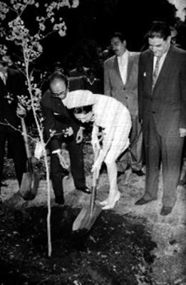 Ernesto P. Uruchurtu conversda con Akihito