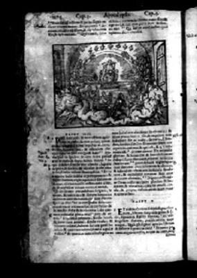 """Pasaje de un capítulo del """"APOCALYPSIS"""" en la Biblia Sacra,"""