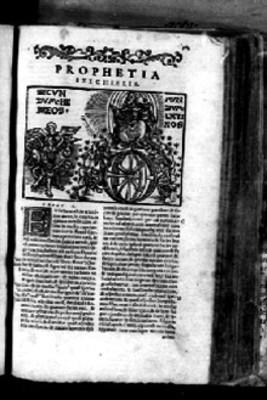 Página de Biblia Sacra con la profecía de Ezequiel