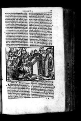 Litografía del éxodo en página de Biblia Sacra