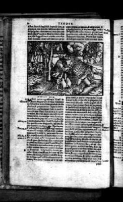 Litografía del éxodo en su capítulo XIX