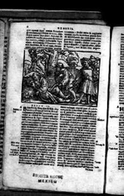 Capítulo IX del Génesis en la Biblia Sacra