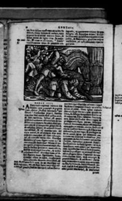 Capítulo IIII del Génesis, página de Biblia Sacra
