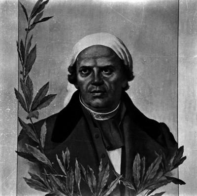 José María Morelos y Pavón, libertador de México, pintura de caballete, retrato