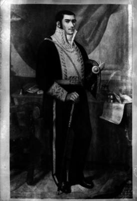 José María Morelos y Pavón, libertador de México, pintura de caballete, reprografía