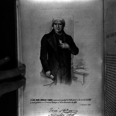 José María Morelos y Pavón, libertador de México, litografía