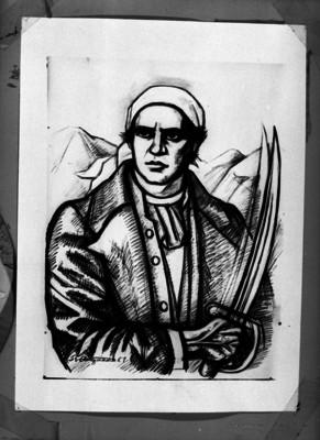 José María Morelos y Pavón, libertador de México, pintura de caballete