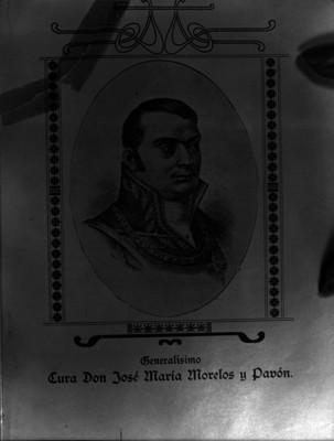 José María Morelos y Pavón, libertador de México, grabado