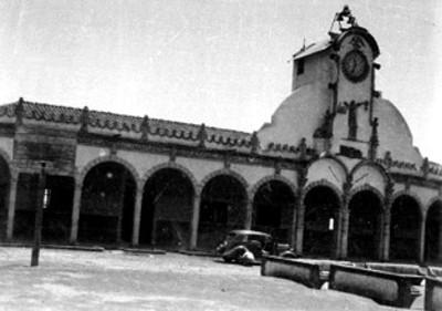Edificio, fachada, vista parcial