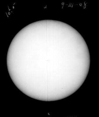 """El sol a """"10h 0 m del 9-III-08"""""""