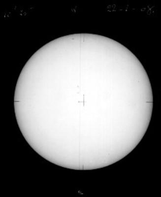 """El sol a """"10H 25 M DEL 22-I-08"""""""