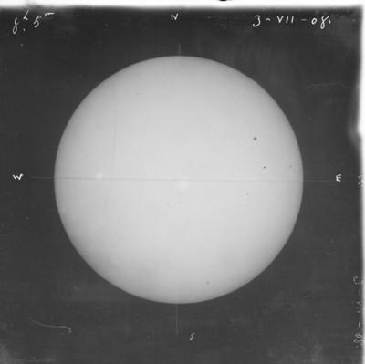 """La luna a """" 8h 5 m del 3-VIII-08"""""""