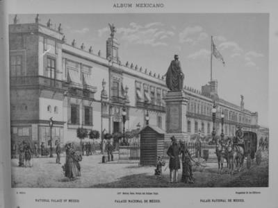 """""""Palacio Nacional"""", litografía"""