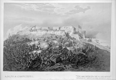 """""""Asalto a Chapultepec"""", """"The war betwen Mexico"""", dibujo de Nebel"""