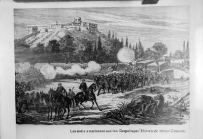 """""""Los norteamericanos asaltan Chapultepec"""", pintura"""