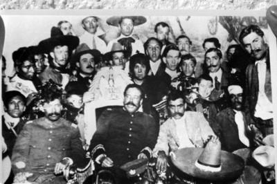 Francisco Villa y Emiliano Zapata en Palacio Nacional