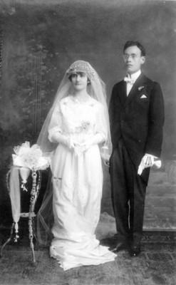 Abel Valadez Beber y esposa, retrato
