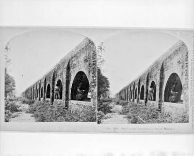 Acueducto de San Cosme, vista esteresocópica