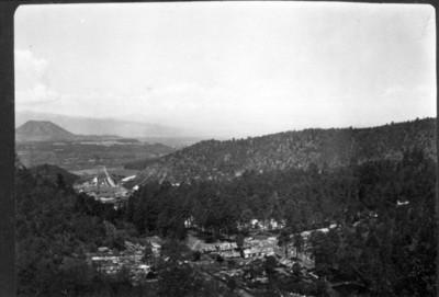 Vista panorámica de la fábrica de papel San Rafael