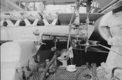 Maquinaria en el interior de la fábrica San Rafael