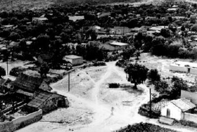 Vista aérea de ranchería en Epazoyucan