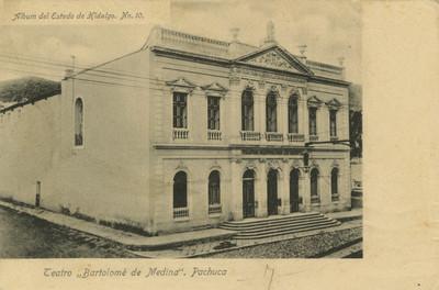 Vista lateral del Teatro Bartolomé de Medina, tarjeta postal