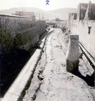 Desazolve en un tramo del Río de las Avenidas, vista parcial