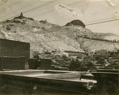 Vista del cerro de la Bufa desde el cerro del Grillo