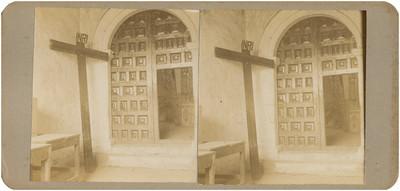 """""""Pasillo donde fue velado el cadáver del cura Hidalgo"""", interior del Templo de San Francisco"""