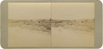 Ruinas de las casas donde estuvieron presos los insurgentes