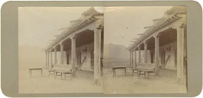 """""""Casa Grande en la Hacienda de Santa María"""", vista del pórtico"""