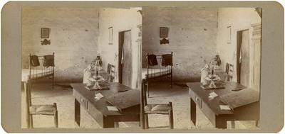 Interior de la pieza en donde se alojó Hidalgo en la hacienda de Mesillas