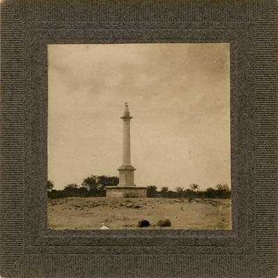 Columna levantada en el lugar preciso donde nació Hidalgo, Rancho de San Vicente