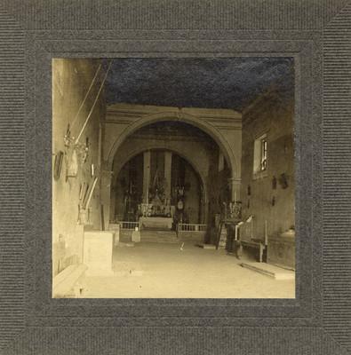 Interior de la capilla de la Hacienda de la Erre