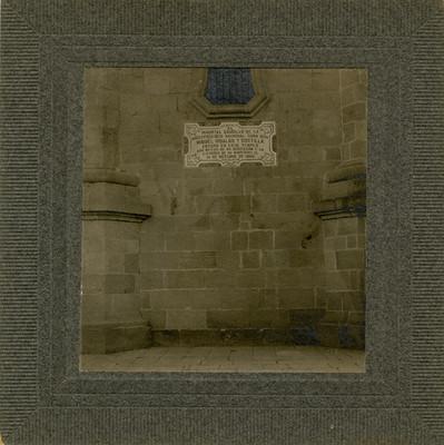 Placa del santuario de Guadalajara, de San Luis Potosi