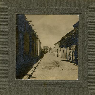 Calle real del pueblo de Venado
