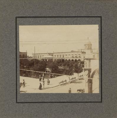 Plaza pública de Celaya, vista parcial