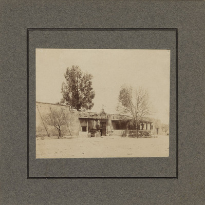 """""""Fachada de la casa de la Hacienda de la Torre"""", vista parcial"""