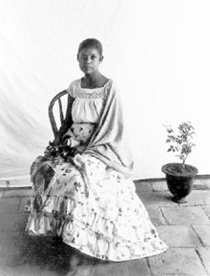 Mujer, retrato de estudio