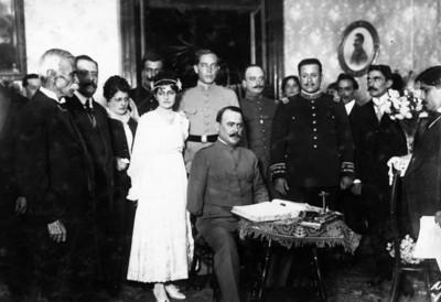 Álvaro Obregón en la boda de Rafael Dávila