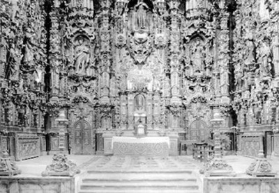 Retablo del altar de la Iglesia de San Francisco Javier en Tepotzotlán