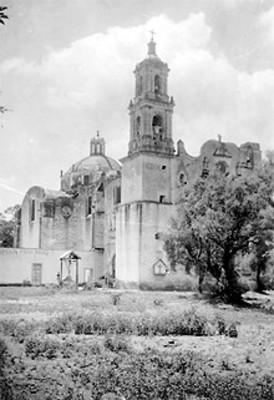 Vista de Iglesia y huerta de convento