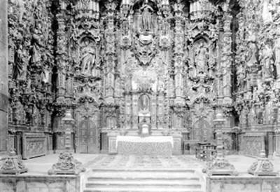 Vista de retablo, altar de la iglesia de Tepotzotlán