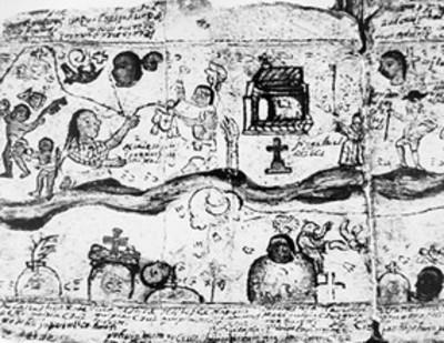 Lámina de códice colonial