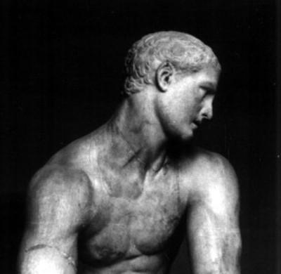 El dios Mercurio Hermes, torso