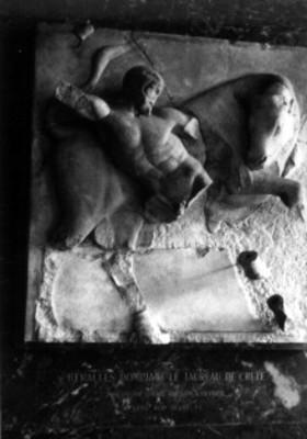 Heracles y el toro de Creta, metopa