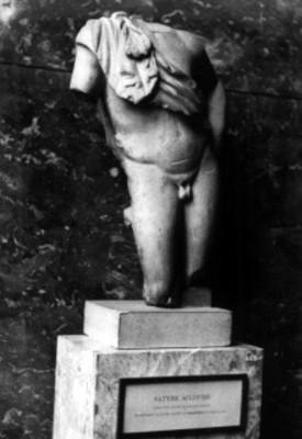 """Escultura griega de un """"Sátiro"""""""
